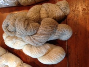 soft, amazingly beautiful spun yarn from our Romney sheep